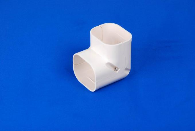 150mm White Air Conditioner Pipe Cover Parts AC Duct Fitting PVC Elbow Corner 1