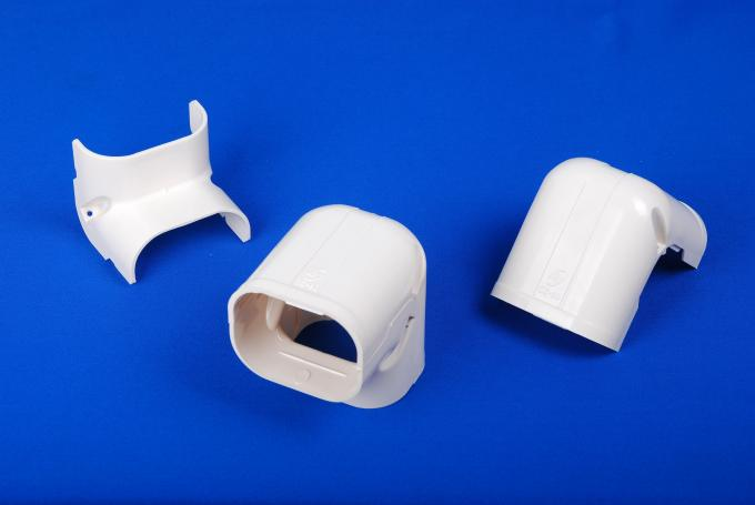 150mm White Air Conditioner Pipe Cover Parts AC Duct Fitting PVC Elbow Corner 2